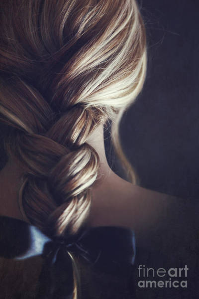 Photograph - Close Up Of A Girl Hair Braided by Sandra Cunningham