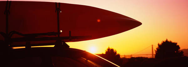 Kayak Photograph - Close-up Of A Kayak On A Car Roof by Panoramic Images