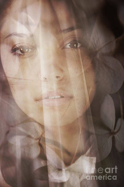 Photograph - Close Up Of A Young Woman With Veil by Sandra Cunningham
