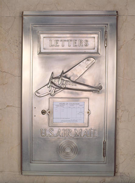 Chicago And North Western Photograph - Close-up Of Art Deco Metal Mailbox, Two by Panoramic Images