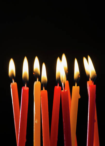 Luck Photograph - Close-up Of Birthday Candles by Daniel Grill