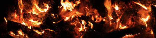 Bonfire Wall Art - Photograph - Close-up Of Bonfire At Night by Panoramic Images