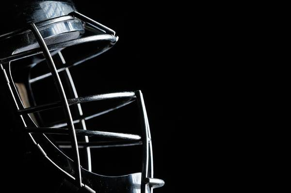 Sport Photograph - Close Up Of Catchers Mask by Sshepard