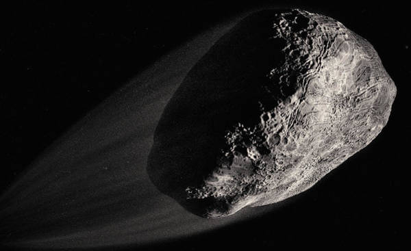 Wall Art - Photograph - Close Up Of Computer Generated Asteroid by Ikon Images