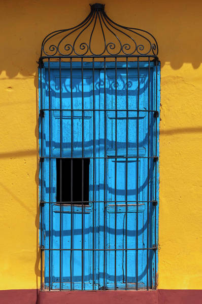 Greater Antilles Photograph - Close-up Of Doorway On Building by Alberto Biscaro