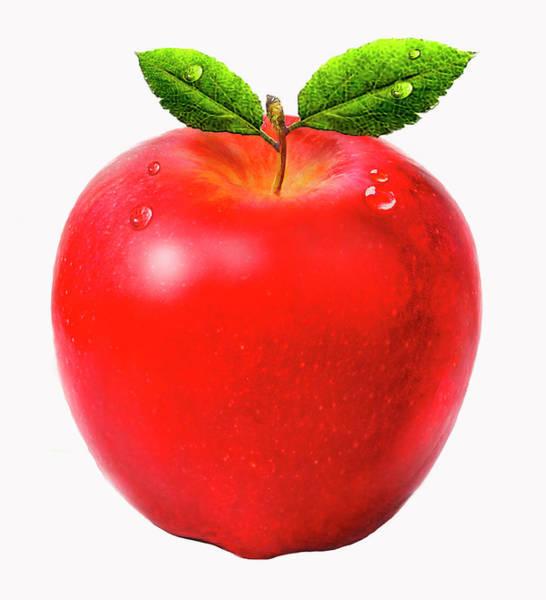 Wall Art - Photograph - Close Up Of Fresh Juicy Red Apple by Ikon Ikon Images