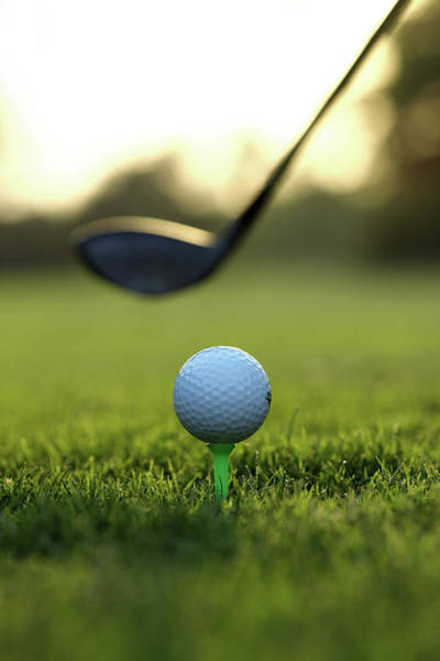 Golf Photograph - Close Up Of Golf Ball And Club On Course by Visage