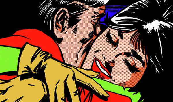 Girlfriend Digital Art - Close Up Of Happy Woman Hugging Man by Jacquie Boyd