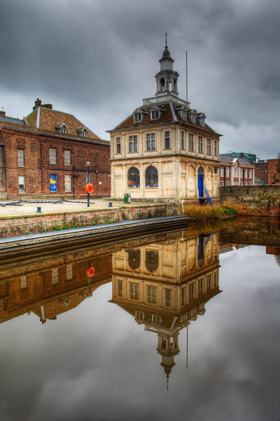 Photograph - Close-up Of Historic Customs House And Dramatic Reflection by Dennis Dame