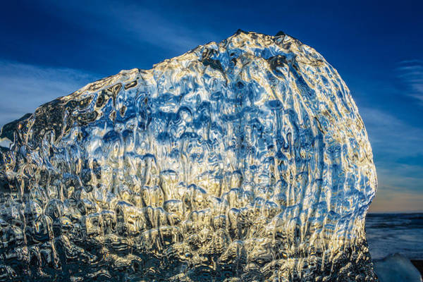 Glacial Photograph - Close Up Of Ice. Ice Formations Come by Panoramic Images