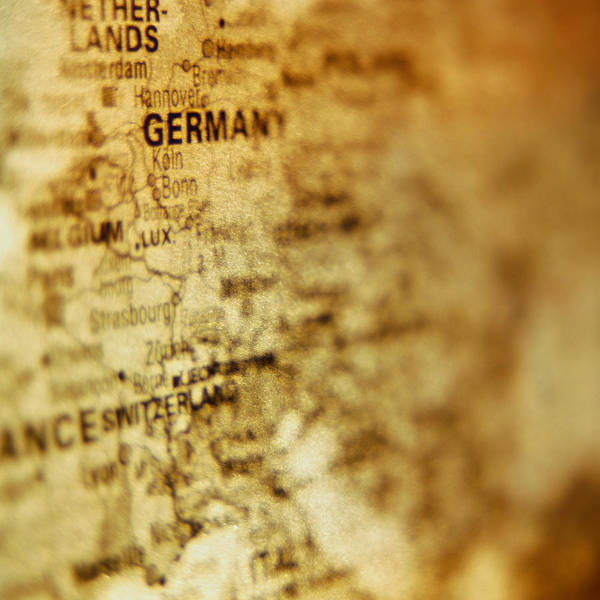 Close-up Of Map Of Western Europe Art Print by Ryan McVay