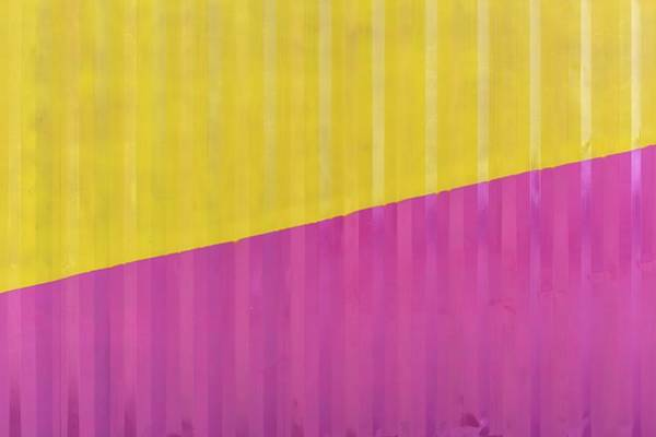 Wall Art - Photograph - Close-up Of Pink And Yellow Wall by Stanislas Augris / Eyeem
