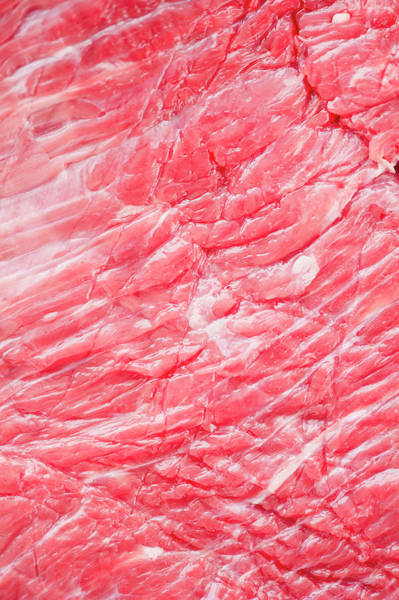 Raw Meat Photograph - Close Up Of Raw Meat, Studio Shot by Jamie Grill