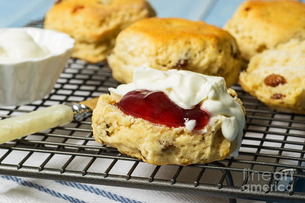 Wall Art - Photograph - Close Up Of Scones by Amanda Elwell