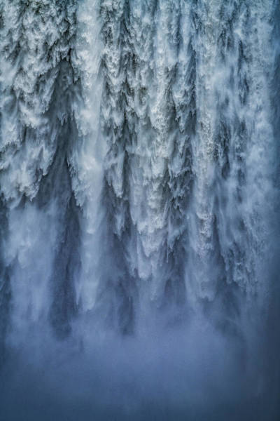 Freshwater Photograph - Close-up Of Skogafoss Waterfall, Iceland by Arctic-images