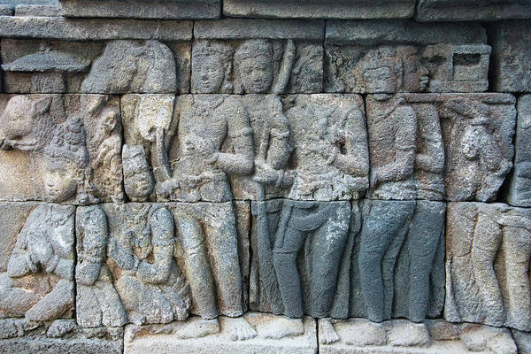 Central Asia Photograph - Close-up Of Stone Carving, Borobudur by Keren Su