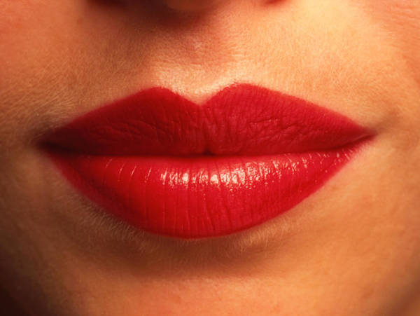 Lips Photograph - Close-up Of The Red Lips Of A Woman (front View) by Phil Jude/science Photo Library