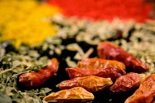 Saffron Digital Art - Close Up Of Various Mixed Spices by Modern Abstract