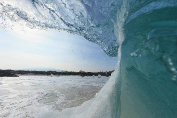 Big Island Photograph - Close Up Of Waves Crashing On Beach by Cultura Exclusive/stuart Westmorland