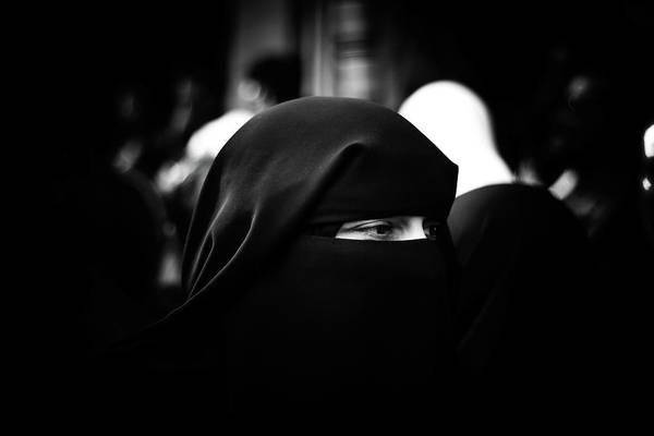 Human Face Photograph - Close-up Of Woman Wearing Hijab by Karim Samhan / Eyeem