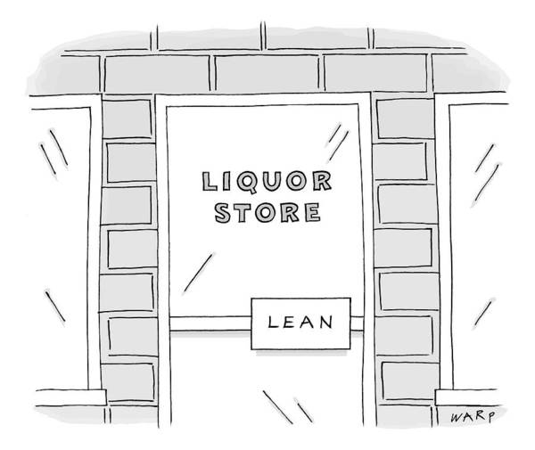 Drunk Drawing - Close Up View Of A Liquor Store With Door Handle by Kim Warp