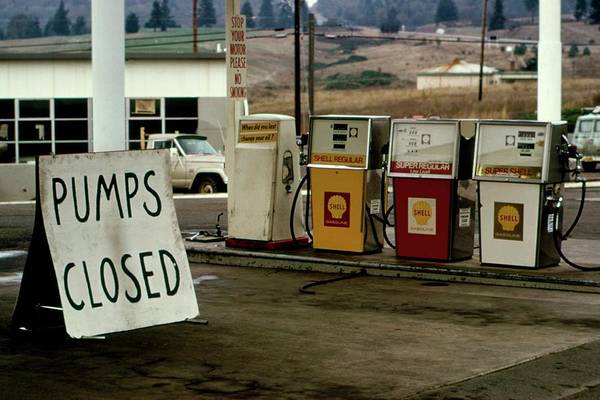 Fossil Fuel Photograph - Closed Petrol Station by Us National Archives And Records Administration/science Photo Library