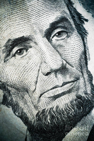 Legal Tender Photograph - Closeup Of A Five Dollar Bill by Amy Cicconi