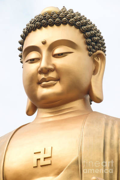 Photograph - Closeup Of Buddha Statue by Yew Kwang