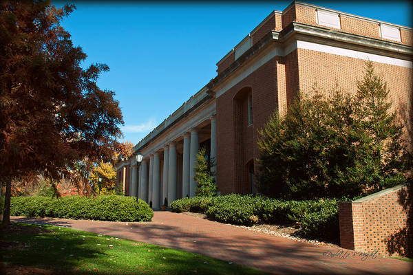 Photograph - Closeup Of E H Little Library - Davidson College by Paulette B Wright