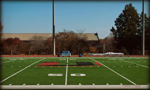 Photograph - Closeup Of Fifty Yard Line At Richardson Stadium by Paulette B Wright