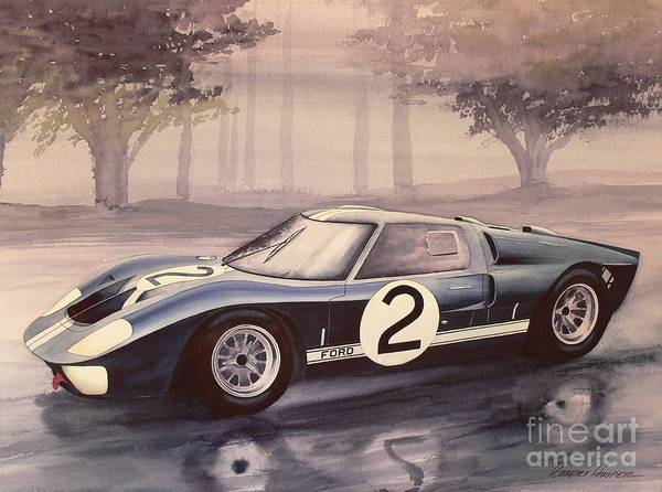 Lemans Wall Art - Painting - Closing Laps by Robert Hooper