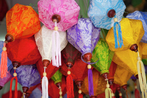 Wall Art - Photograph - Cloth Lanterns, Ho Chi Minh City by Keren Su