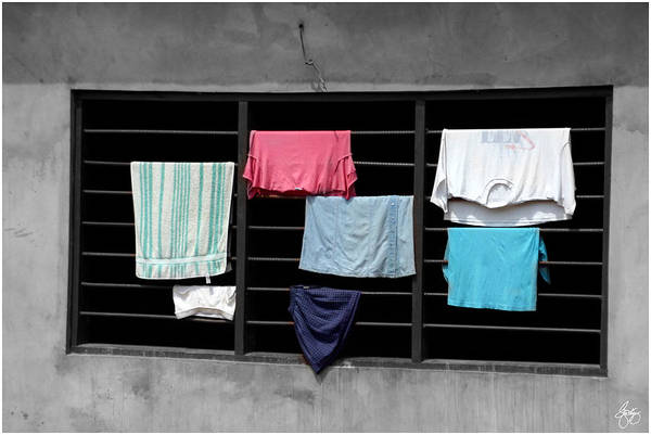 Photograph - Clothes Drying On A Grate by Wayne King