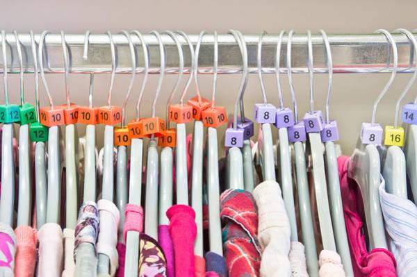 Dress Shop Photograph - Clothes Sizes by Tom Gowanlock