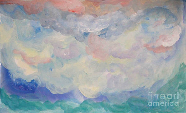 Painting - Cloud Abstract 1 by Anne Cameron Cutri