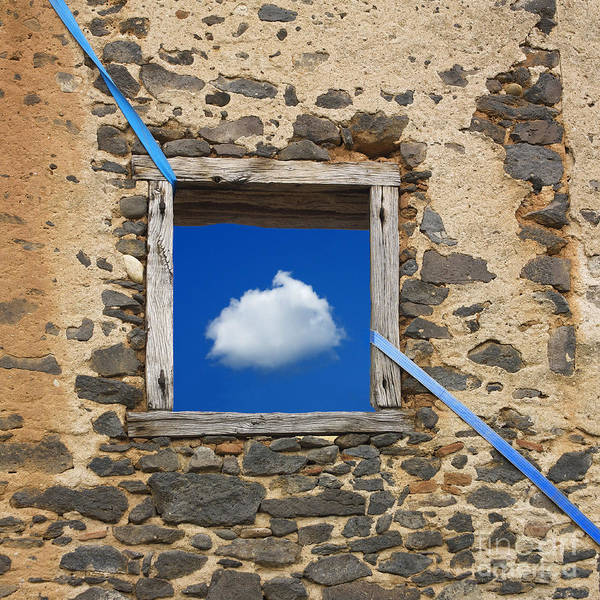 Stone Wall Wall Art - Photograph - Cloud by Bernard Jaubert