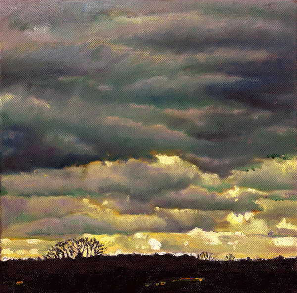 Unexpected Painting - Cloud Burst by Helen White