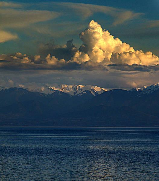 Vancouver Mixed Media - Cloud Cap Snow Cap by Janet Ashworth
