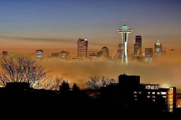Wall Art - Photograph - Cloud City Seattle by Benjamin Yeager