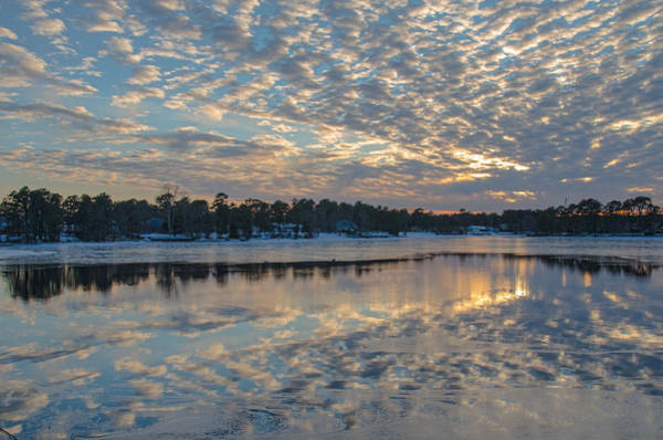 Photograph - Cloud Deck Reflected At Sunset by Beth Sawickie