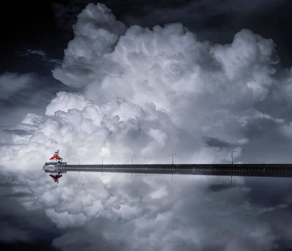Mirror Photograph - Cloud Desending by Like He