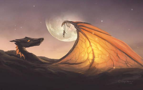 Shipping Digital Art - Cloud Dragon by Cassiopeia Art