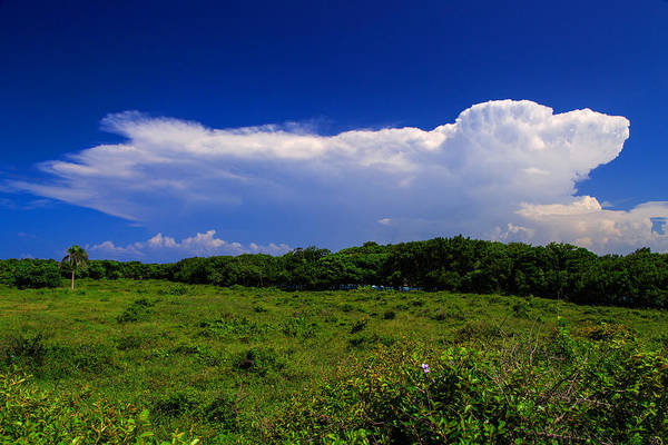 Puerto Plata Photograph - Cloud Expanding Over A Beautiful Tropical Landscape by Dmitry Sergeev