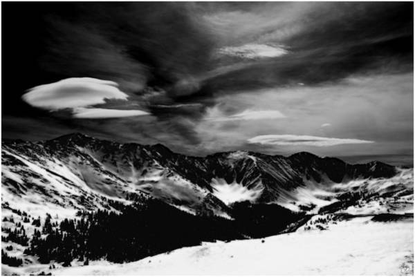 Photograph - Cloud Form Monochrome Over The Continental Divide by Wayne King