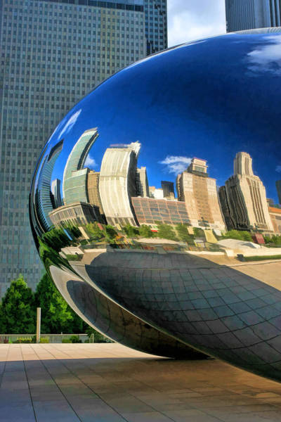 Painting - Chicago Cloud Gate Bean by Christopher Arndt