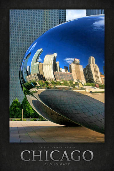 Painting - Cloud Gate Bean Poster by Christopher Arndt