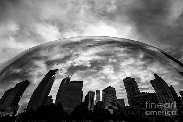 Sears Tower Photograph - Cloud Gate Chicago Bean by Paul Velgos