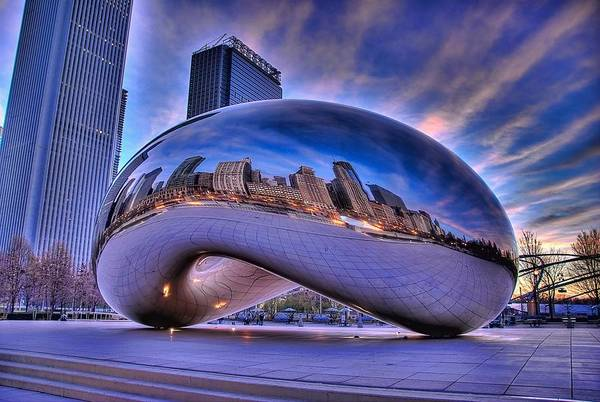 Cloud Gate Art Print