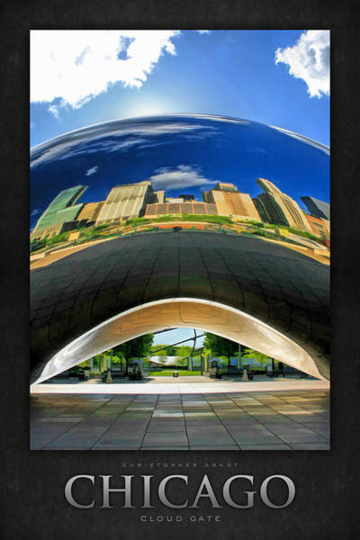 Painting - Cloud Gate Under The Bean Poster by Christopher Arndt