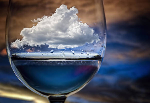 Drop Photograph - Cloud In A Glass by Chechi Peinado